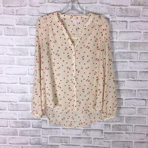 Lauren Conrad sheer blouse NWOT size S
